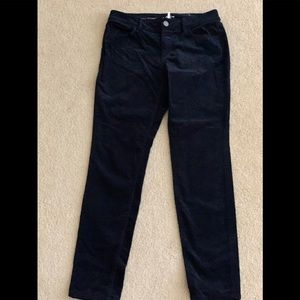 Corduroy Pants. Navy blue.
